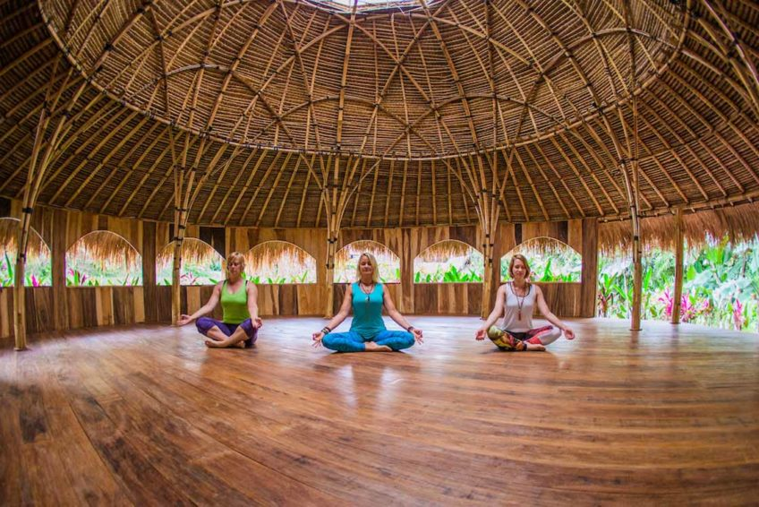 Tammy Assanoff, Yvonne Ohnewas, & Dinah Machm¸ller at the Yoga Barn, Ubud Bali