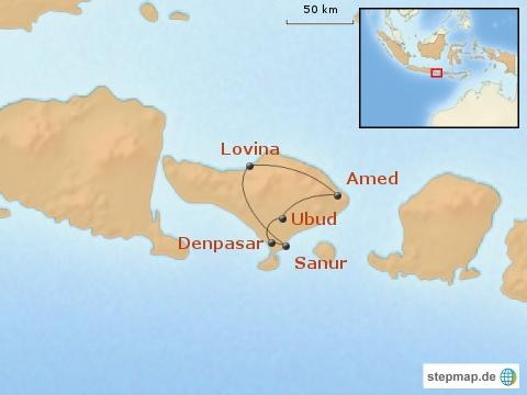 14-tage-familienreise-bali-erlebe-fernreisen-Karte_Bali in Kurzform