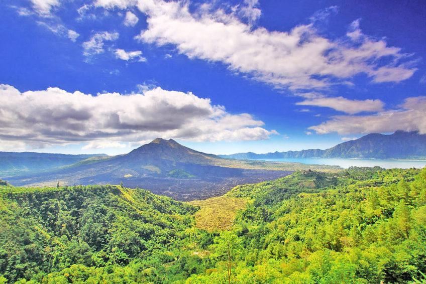 Aussicht auf Vulkan
