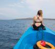 Melissa auf dem Boot