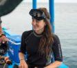 Petra beim Tauchen mit West Bali Explorer