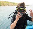 Melissa beim Tauchen mit West Bali Explorer